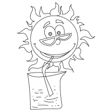 The Sun Is Cool coloring pages