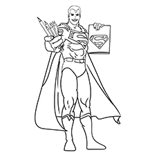 Top 30 Free Printable Superman Coloring Pages Online