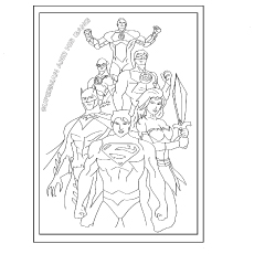 The Superman with Gang coloring pages