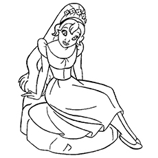 Thumbelina Fairy Coloring Pages Printable And Her