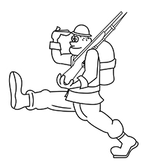 The Toy Soldier Coloring Page