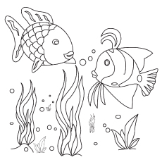 The Tropical Fishes in the Ocean coloring pages
