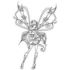 Free Printable Winx Fairy Coloring Sheet