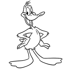 Looney Tunes Daffy Duck Coloring Pages