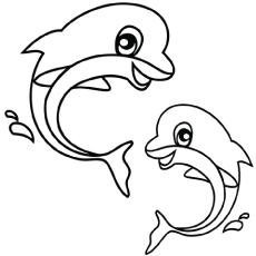 the dolphin - Free Printable Sea Life Coloring Pages