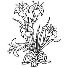 Easter lily Image to Color