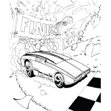 Top 25 Free Printable Hot Wheels Coloring Pages Online