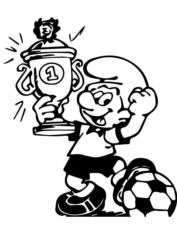 The-smurf-boy-wins-a-trophy-for-football