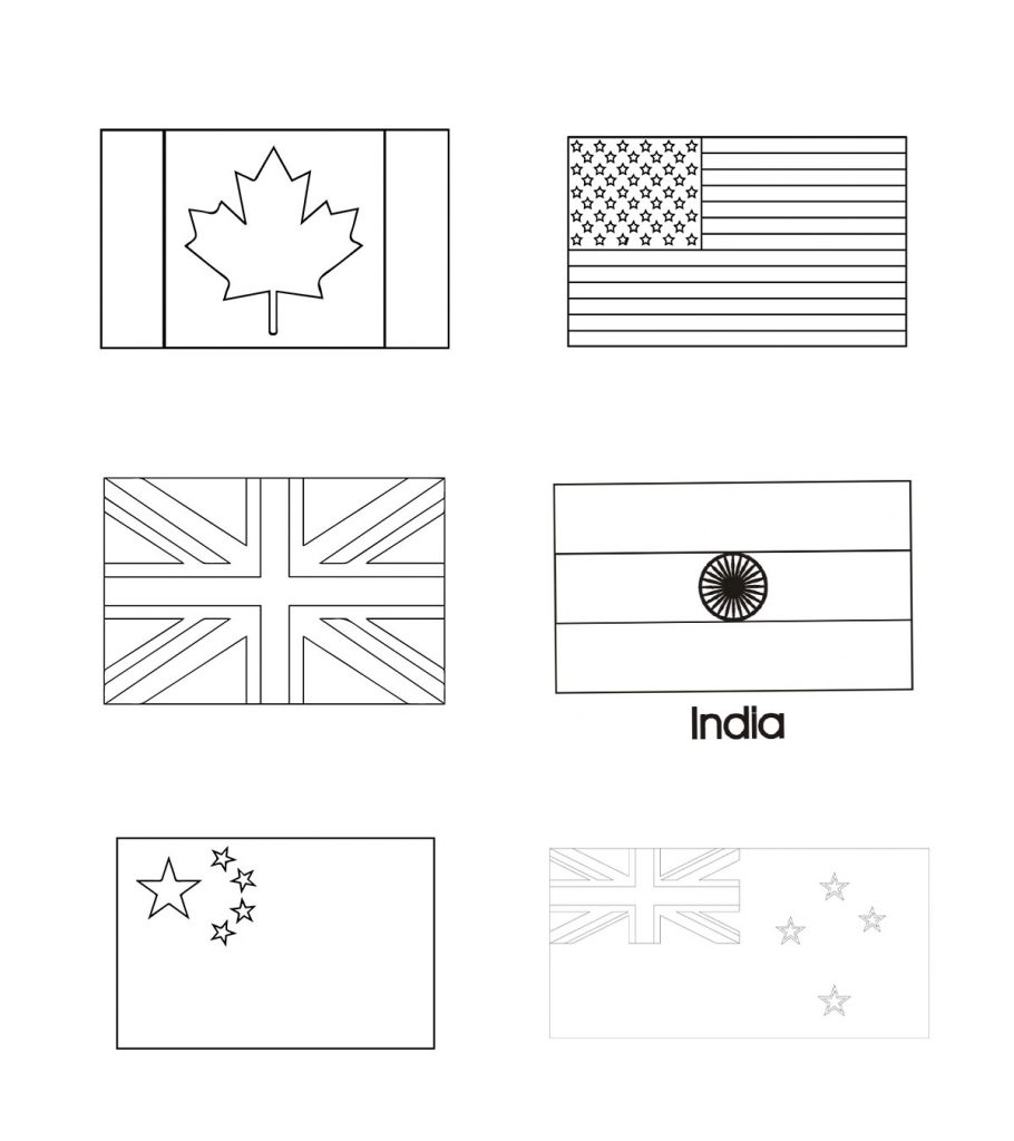 Top 10 Free Printable Country And World Flags Coloring ...
