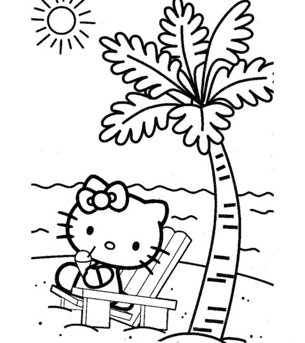 photograph about Beach Printable Coloring Pages named Beach front Coloring Web pages : 20 No cost Printable Sheets in direction of Coloration