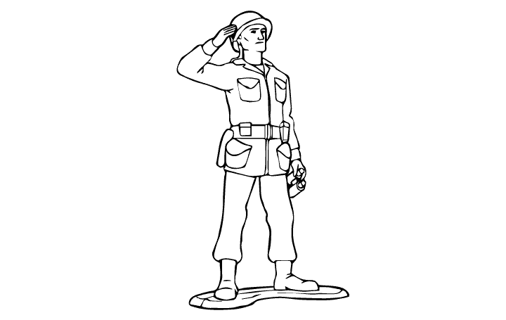 toy army soldiers coloring pages - photo#14
