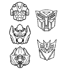 Transformer Masks Coloring Pages
