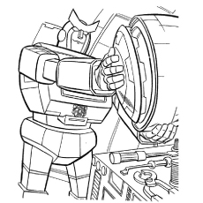 Transformer At Repairing Coloring Pages