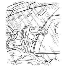 Transformer Caught In A Storm Coloring Pages