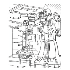 Transformer Power Coloring Pages