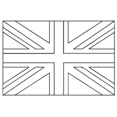 United Kingdom Flag Coloring Page