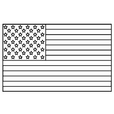 united states of america flag picture to color