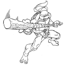 TMNT Character Leonardo Coloring Pages