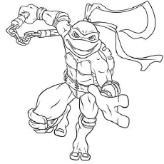 michelangelo coloring sheets - Tmnt Coloring Pages