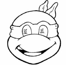Free Ninja Turtle Mask Coloring Pages