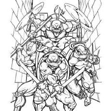 coloring pages of tmnt who are ready for battle