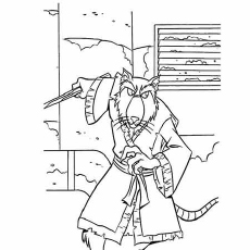 Splinter from Ninja Turtles Series Coloring Pages