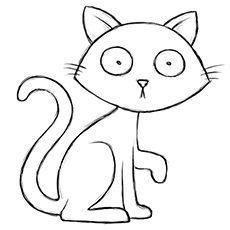 startled halloween cat - Halloween Black Cat Coloring Pages