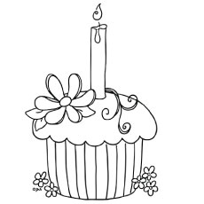 Lovely Cupcake Coloring Pages Your Toddler Will Love 0082460 on christmas clipart