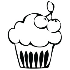 birthday cupcake - Cupcakes Coloring Pages Printable