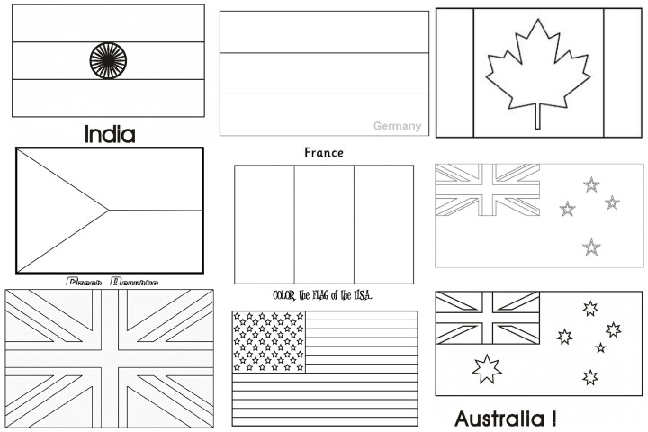 free world flags coloring pages - photo #18
