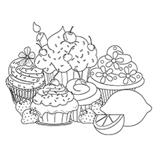 Complex Coloring Desserts Coloring Pages