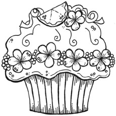 decorative cupcake - Cupcakes Coloring Pages