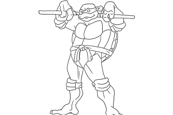 Donatello Ninja Turtle Coloring Pages Ninja Turtles Donatell...