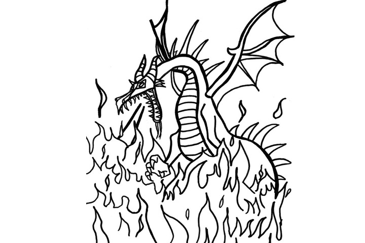 Sleeping Beauty Dragon Coloring Page Maleficent Is T