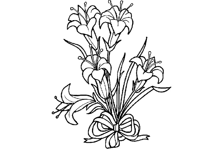 Easter Lily Coloring Coloring Pages