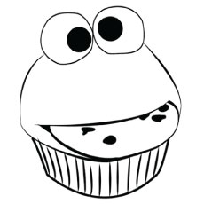 funny cupcake - Cupcakes Coloring Pages