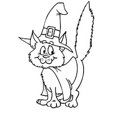 halloween cat fox - Cute Halloween Cat Coloring Pages