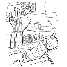Transformers in Hi Tech Operations Coloring Pages