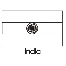 india flag to color - Flags World Coloring Pages