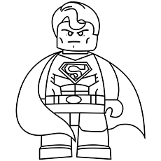 lego in superman - Superman Coloring Pages
