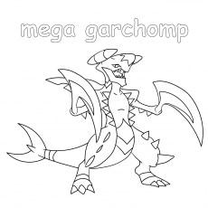mega garchomp coloring pages - photo#44