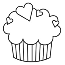 picture regarding Cupcake Template Printable named Supreme 25 Totally free Printable Cupcake Coloring Internet pages On the net