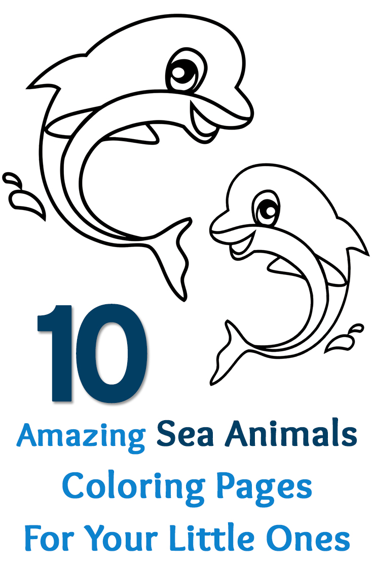 Sea Animal Coloring Pages Printable Free Top Animals
