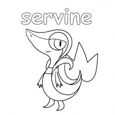 pokemon coloring pages servine wallpaper | Top 75 Free Printable Pokemon Coloring Pages Online