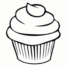 simple cupcake with swirling icing on top