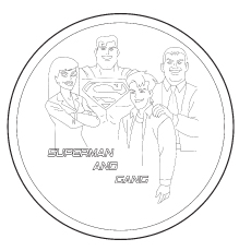 Superman And His Group Coloring Pages