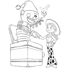 Printable Jessie And The Jack In Box Coloring Pages Toy story