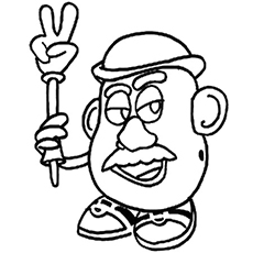 Potatohead with Victory Coloring Pages