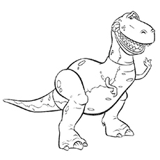 Rex of Toy Story Printable to Color