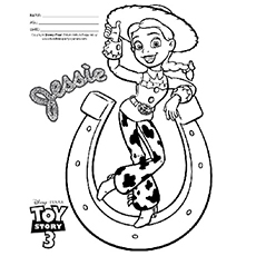 the stylish jessie the cowgirl coloring pages - Cowboy Cowgirl Coloring Pages
